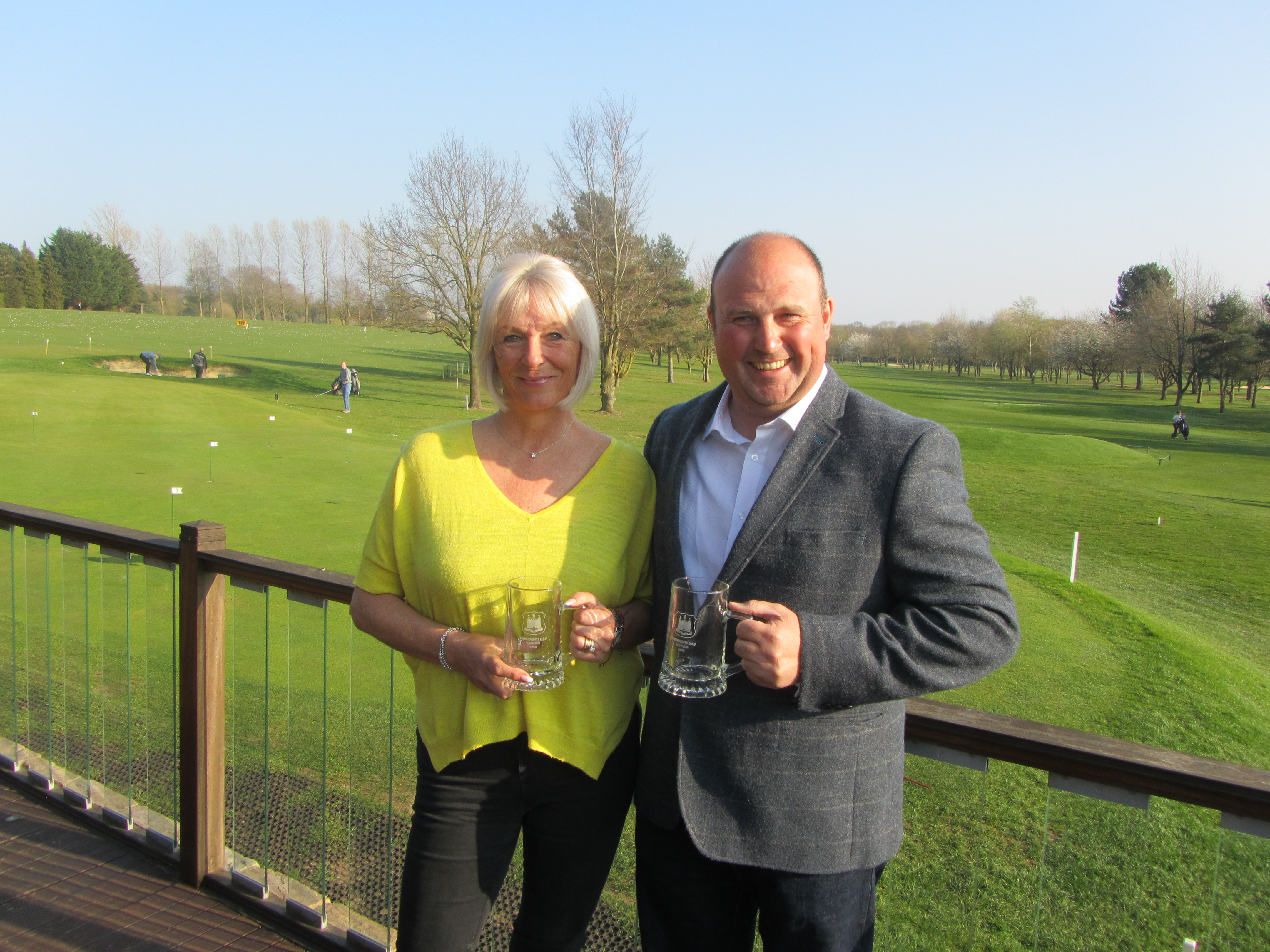Rhys Nightingale and Andrea Leigh - 43 Points in the SGU Presidents Day Stableford